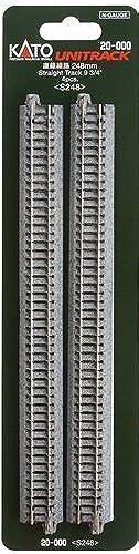 opciones a bajo precio Kato 20-000 N Unitrack 248mm 9 3 4 Straight Straight Straight Track 4pcs by Kato  n ° 1 en línea
