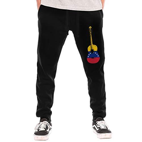 Not Applicable Pantalones de chándal para Hombre, diseño de la Bandera de Venezuela Negro Negro (XL