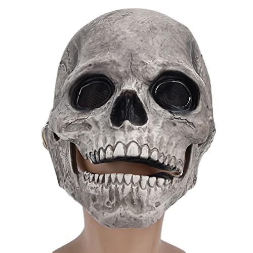 Máscara assustadora de Dia das Bruxas, acessório para cosplay de látex, máscara de demônio fantasma de terror assustador Drácula, fantasma de monstro assustador, máscara de rosto de palhaço assustador, caveira de terror assustador, máscara de festa de Halloween