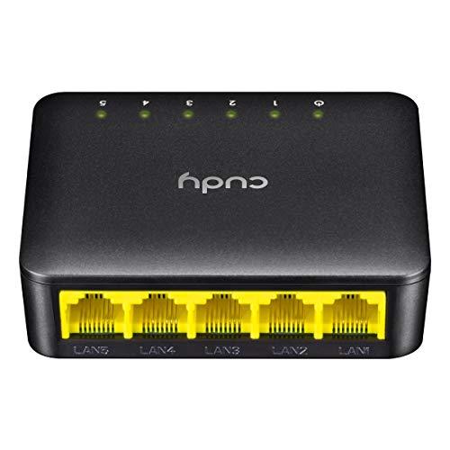 Cudy FS105D 5-Port Fast Ethernet Switch 10/100 Mbit/s | Netzwerk Switch | LAN Switch | Plug and Play | Lüfterlose Ruhe | Nicht verwaltet | Automatische Geschwindigkeits- und Duplexanpassung