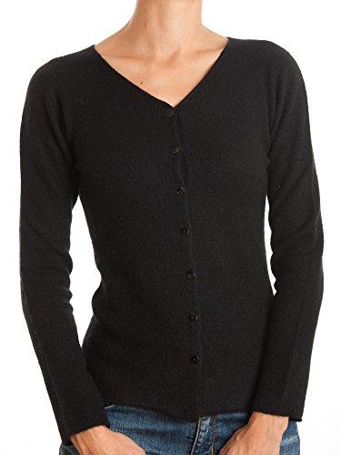 DALLE PIANE CASHMERE - Cardigan zu 100% aus Cashmere, für Damen, Farbe: Schwarz, Größe: S