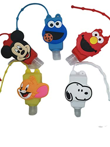 Cute Kids Refillable Bottles 5 Pack, Choice of 3 Types, Leakproof, Reusable, 30ml Bottles. (Mixed)