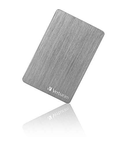 Verbatim Store 'n' Go ALU Slim I 2 TB I Space Grey I Externe Festplatte I USB 3.2 GEN 1 I Festplatte extern aus Aluminium I für Windows & Mac OS X I tragbare Festplatte I USB Festplatte