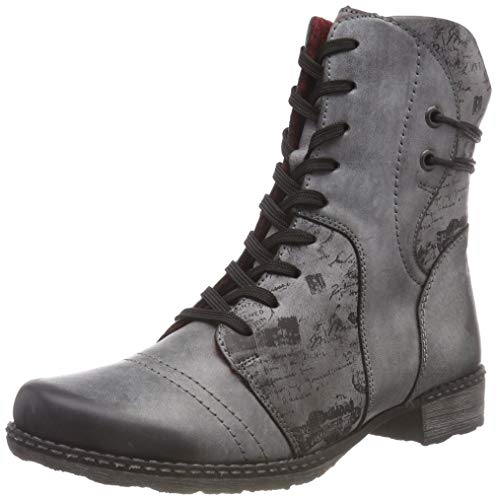 Remonte Damen D4366 Combat Boots, Grau (Negro/Asphalt 02), 38 EU