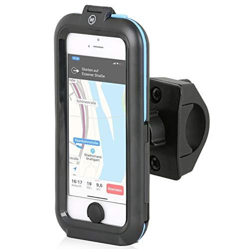 Wicked Chili Tour Case kompatibel mit Apple iPhone SE (2016) / 5S / 5 Outdoor Fahrradhalterung Bike Navigation mit Touch ID (Spritzwasserschutz IPx5, Ladekabelanschluss, Kopfhörerbuchse) schwarz