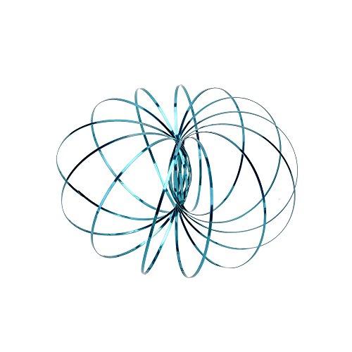 Crazy lin Fluss Ringe Edelstahl Magische Ringe Stress Reilef Arm Lustige Spielzeug Kinetische Frühling Armband Für Kinder Jungen Mädchen (Blau)