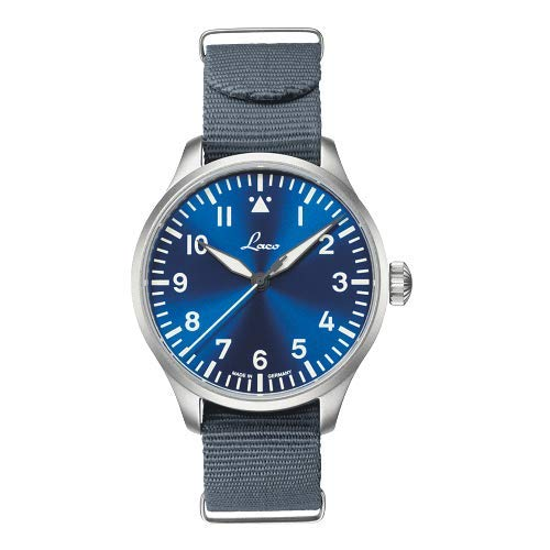 Laco - Orologio da aviatore base Augsburg, 42 ore blu, made in Germany, Ø...