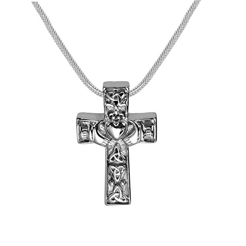 GIONO Cremation Jewelry Cross Celtic Heart Urn Pendant Memorial Ash Keepsake Stainless Steel