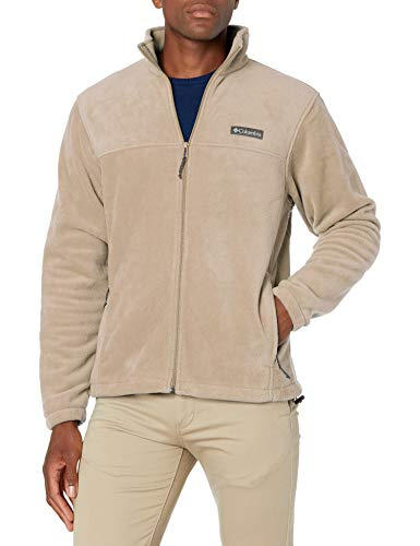 Columbia Men's Steens Mountain 2.0 Full Zip Fleece Jacket, Ancient Fossil, Small