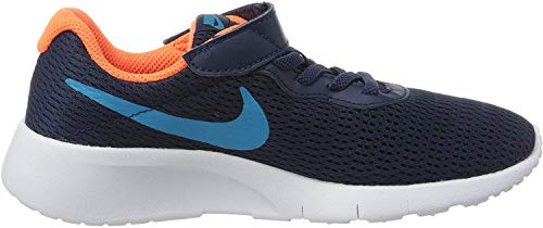 Nike Unisex-Child Tanjun (PSV) Sneaker, Midnight Navy/Laser Blue-Hyper Crimson, 31 EU