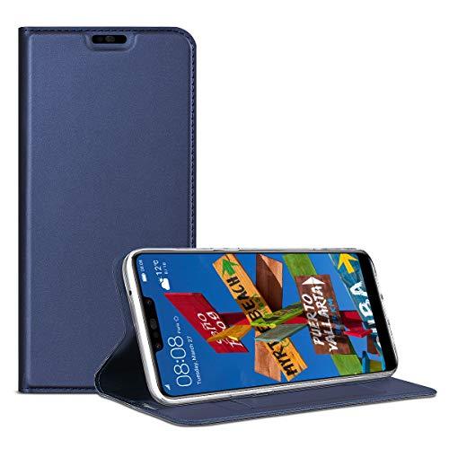 SMART Legend Huawei P Smart Plus Hülle, Huawei Nova 3i Hülle, Handyhülle Schutzhülle mit kartenfach Lederhülle Ledertasche PU Leder Flip Case Protective Cover mit Magnet Standfunktion - Blau
