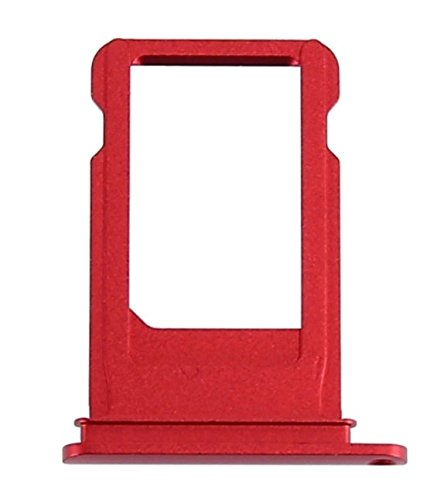 BEST SHOPPER SIM Card Tray Reader Holder Slot Premium Quality Replacement Repair Part Compatible with Apple iPhone 7 4.7 - Red