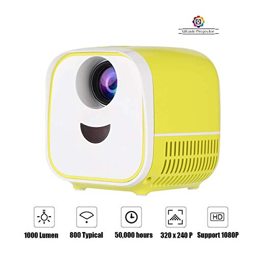 Mini Projector Home Theater Video Projectors Full HD 1080P Portable 1000Lumens HDMI USB Media Player Children Best Gift for Kid