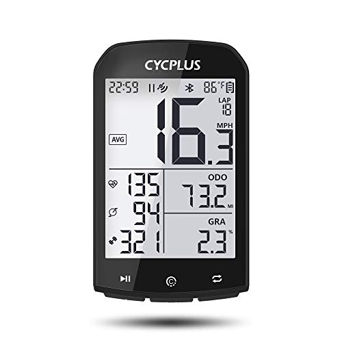 CYCPLUS GPS Bike Computer Waterproof Bicycle Speedometer and Odometer ANT+ Wireless Cycling Computer Bluetooth Compatible with App 2.9 Inch LCD Display with Backlight