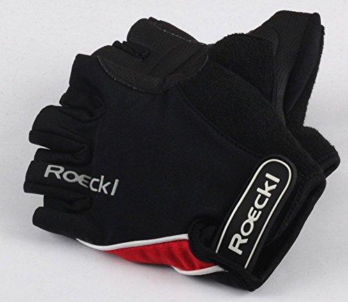Roeckl guantes de ciclismo MTB verano corto del dedo Negro Rojo 1293,...