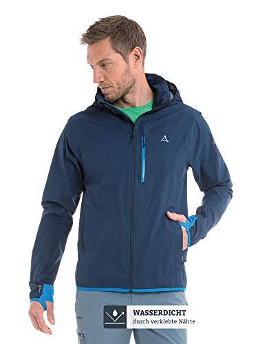 Schöffel Herren Jacket Toronto4 Wind-und wasserdichte Jacke Kapuze, atmungsaktive und verstaubare Hardshelljacke für Männer, Blau (Dress blues), 48
