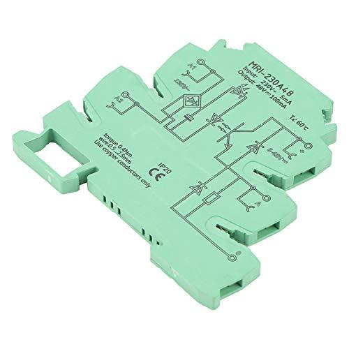 Optokoppler-SPS-Relais, ultradünnes 6,2-mm-Relaismodul, Eingang: 230 VAC, 2,5 mA, Ausgang: 5-48 VDC, 3 Hz-Betriebsfrequenz, galvanische Trennung 2,5 kVrms