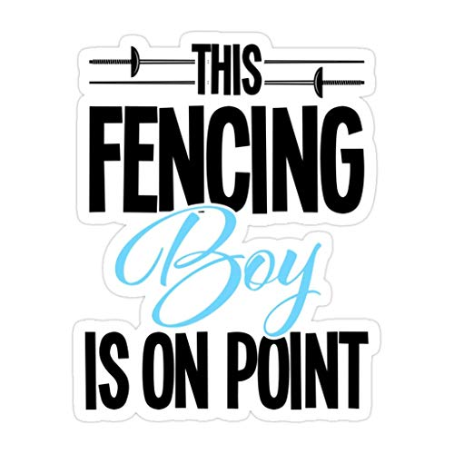 DKISEE 3 PCs Fencing Sport Design Mens This Fencing Boy is On Point - 4 inches Die-Cut Stickers Decals for Laptop Window Car Bumper Water Bottle