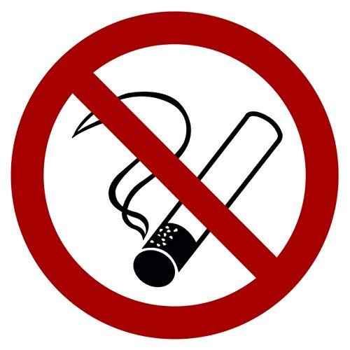Strobo - Adesivo con segnale di divieto di fumo, con protezione dai raggi UV, segnale di avvertimento per interni ed esterni, vietato fumare, sigarette non consentite