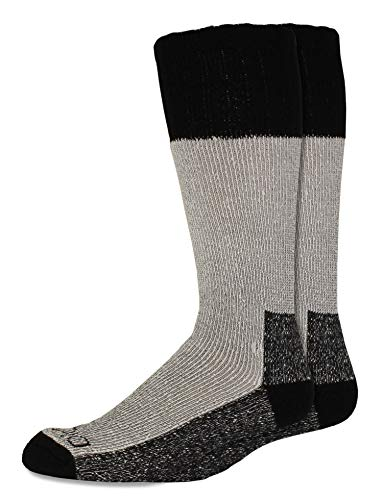 Dickies Men's 2 Pack High Bulk Acrylic Thermal Boot Crew Socks, Black, Shoe Size: 6-12
