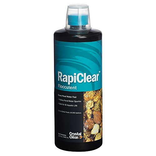 CrystalClear RapiClear Liquid Flocculent - Pond Water Clarifier - 32 Ounces Treats Up to 16,000 Gallons
