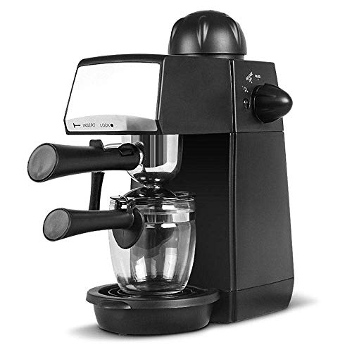 LLSS Espresso and Coffee Machine, Semi-Automatic 2 in 1 Combination 5 Bar Cappuccino Maker, Latte Maker, Milk Frothing Cup, Spoon, Tamper Cups, Built-in Heating Tray