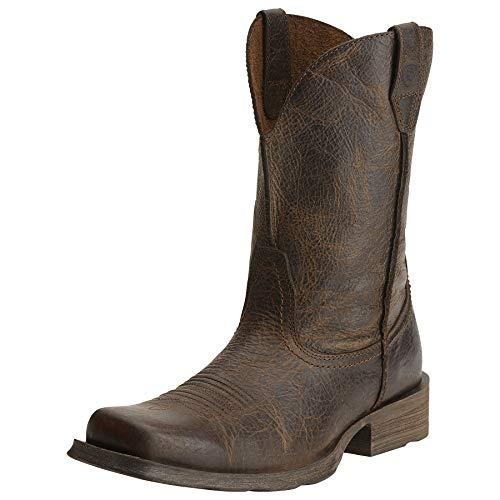 ARIAT Rambler Herren Western-Cowboystiefel mit breiter quadratischer Spitze, Braun (Weide), 43 EU