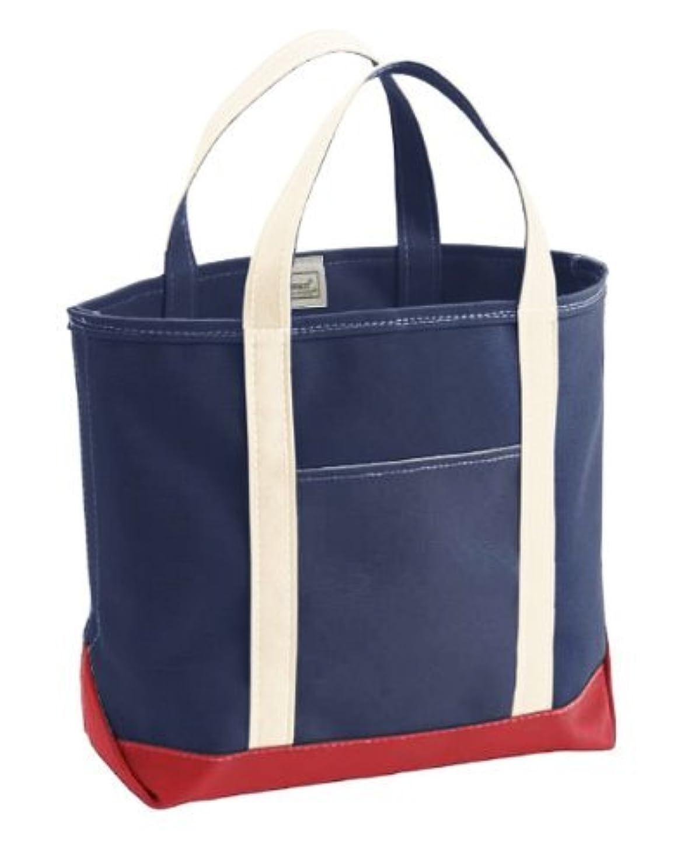 スパイラルペデスタル単語(エルエルビーン) LL Bean Custom Tote Bag Large Natural/Red/Blue トリコロール エルエルビーン 別注キャンバストートバッグ  (並行輸入品)