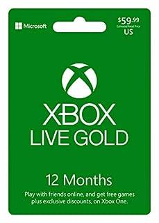 Microsoft Xbox LIVE 12 Month Gold Membership (Physical Card) by Xbox Live 12 Month Gold Card En/Es Us Fpp (B00EQNP8F4) | Amazon price tracker / tracking, Amazon price history charts, Amazon price watches, Amazon price drop alerts