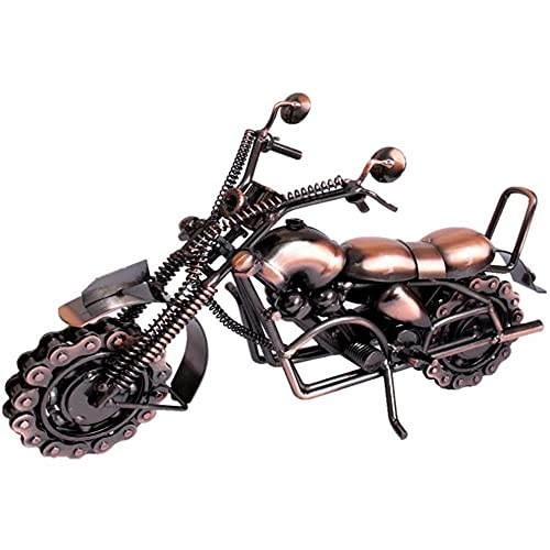 Angelay-Tian Iron Motorcycle Model, Creative Handcrafted Personalized Motorbike Lovers's Gift Birthday Present For Art Collection Or Desktop Decoration
