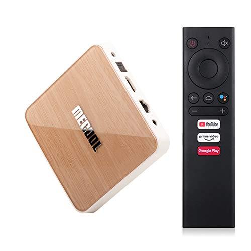 ALLWIN Android 10.0 TV Caja de TV 4GB RAM 32GB ROM Quad-Core Caja Inteligente de Android de 64 bits con 2.4 g / 5g Dual WiFi 1000m Ethernet, Soporte 3D / 4K HDR + / BT 5.0