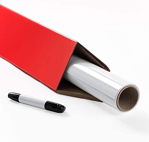 Whiteboard Wallpaper Large 4x6 ft Peel and Stick Whiteboard Glossy White Dry Erase Decal with product image