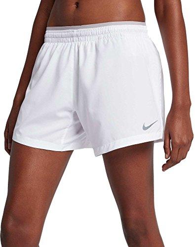 Nike Women's Elevate 5'' Running Shorts (White, X-Large)