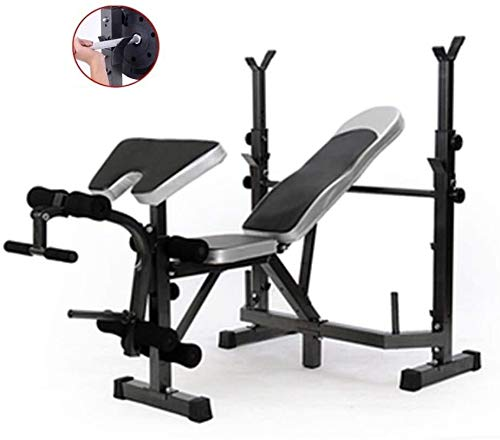 Cnley Free squat Bench Press Manubri Panchina Squat Rack Peso Tavolo Multifunzionale Pesi Panca Pressa Bar Rack Manubrio Set Sgabello Set (Colore: Nero, Dimensioni: 146 * 136 * 105 cm)