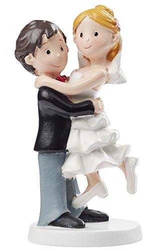 Hobbyfun Hochzeitspaar Figur Deko Brautpaar Tortendeko Bräutigam Braut 10 cm Torte