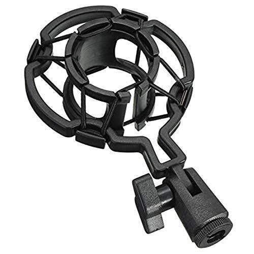 Brain Freezer J Universal Plastic Microphone Shock Mount Compatible With Diameter Condenser Mic (Black)