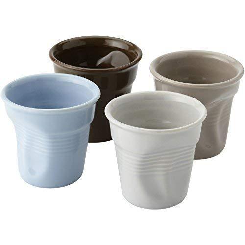 Tazzine da caffe in ceramica con effetto sciolto in scatola regalo