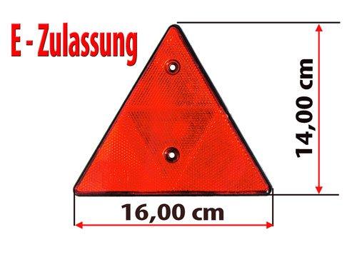 2-Stck-Dreieckrckstrahler-Anhnger-150-mm-Rckstrahler-Reflektor-Dreieck