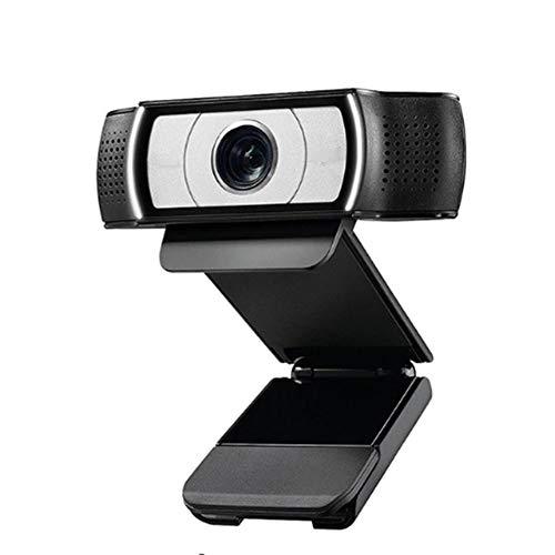 QHAI HD Smart 1080P Webcam mit Deckel, für Computer-Zeiss-Objektiv USB-Videokamera 4 Zeit Digital Zoom Web Cam
