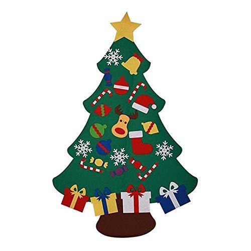 Abkürzung Weihnachtsbaum, Filz Weihnachtsbaum Grüner Weihnachtsbaum, DIY Filz Weihnachtsbaum Bildung Geschenk, Wand hängen an for Kinder Kinder, Umweltfreundlich, bunte Weihnachten peng ( Color : C )