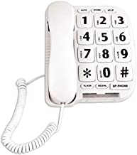 JeKaVis JF11W Big Button Corded Phone for Elderly Amplified Phones for Hearing Impaired Seniors with Loud Handsfree Speakerphone