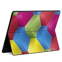 igsticker Surface Pro X 専用スキンシール サーフェス プロ エックス ノートブック ノートパソコン カバー ケース フィルム ステッカー アクセサリー 保護 000462 その他 ひし形 レインボー