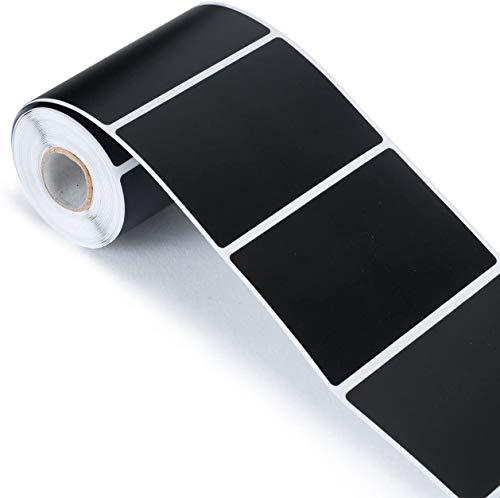 150 pegatinas de pizarra en negro mate, 4,7 x 6,5 cm, rectangulares, impermeables, reutilizables, para manualidades, cristal, cocina, organizador, etiquetas