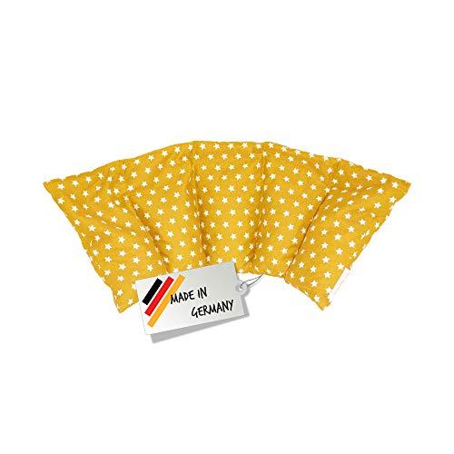Cojín de huesos de cereza / Almohada relajante para el tratamiento térmico – Almohada para calentar en microondas (Resistente al calor) // 5 divisiones //disponible en 18 colores (amarillo)
