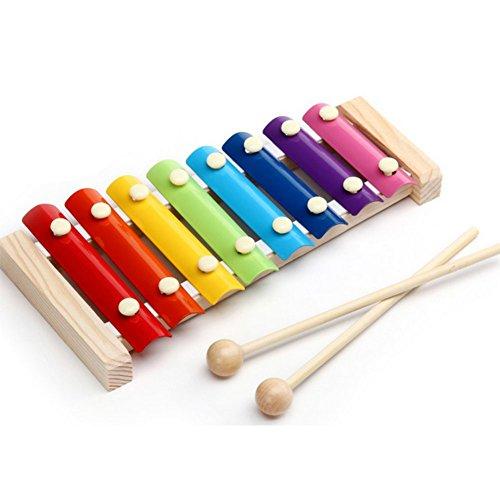 Demarkt Xilófono para niños Xilófono con 2 raquetas y 8 tonos de madera