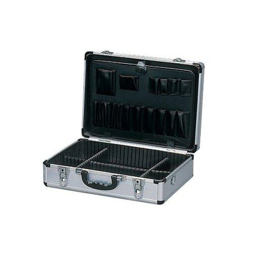 アイリスオーヤマ アルミケース 工具収納ケース 鍵付き 6分割仕切り付き W約47×D約35.5×H約15cm AM-15