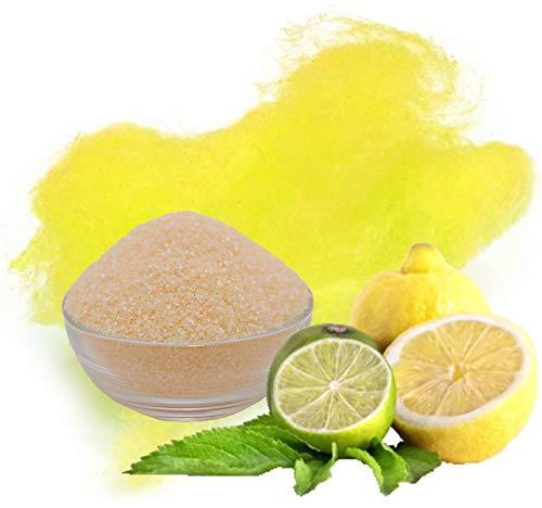 100g Aromazucker Zitrone Gelb Zucker für bunte Zuckerwatte Farbaromazucker und Dekorzucker für Zuckerwattemachinen