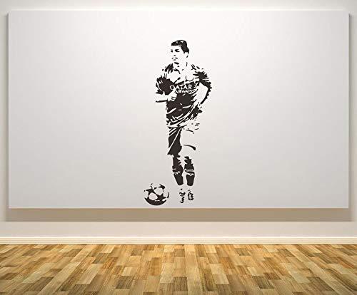 Wall Stickers Luis Suarez Wandtattoo Brasilien Football Player Wandaufkleber Steuern Dekor Wohnzimmer Schlafzimmer Moderne Mode Wandkunst Poster 57X142 Cm
