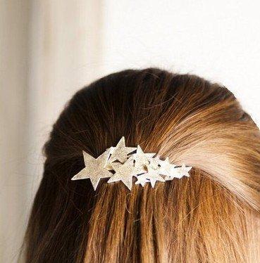 『シューティングスター 流れ星 バレッタ 髪飾り ゴールド』の2枚目の画像
