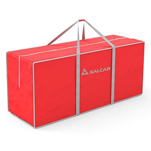 SALCAR Scatole per Armadio Salvaspazio, 130 x 40 x 50cm, Scatole per Grande capacità Contenitori, Pieghevole Borsa Organizzatore per Trapunte Coperte Biancheria da Letto, Borse per Trasloco, Rosso